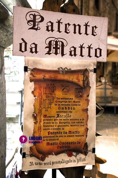 "La ""patente da matto"""